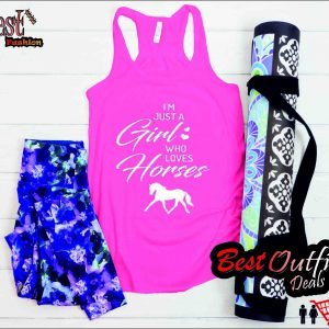 I'm Just A Girl Who Loves Horses Tank Top