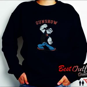 Popeye Gun Show Charcoal Sweatshirt