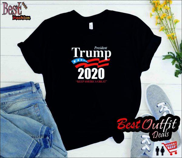 President Trump 2020 Keep America Great Women's Triblend Long Sleeve Scoop Neck T Shirt