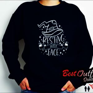 Resting Witch Face Halloween Classic Sweatshirt