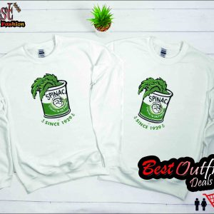Popeye Spinach Strong to the Finish White Sweatshirts