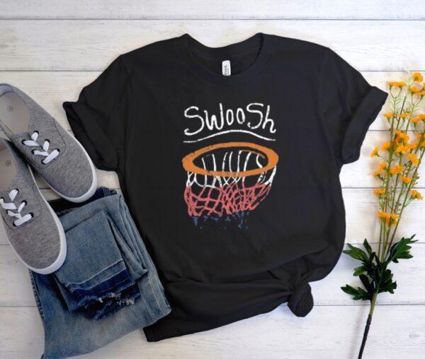 BASKETBALL HOOP SWOOSH Stylish T Shirt