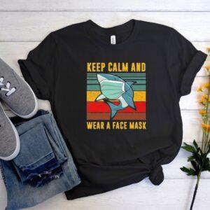 Baby Shark keep calm and wear a face mask Men Women Graphic T Shirt