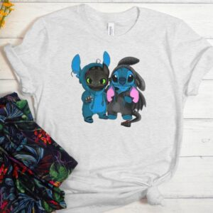 Baby Toothless and baby Stitch New T shirt
